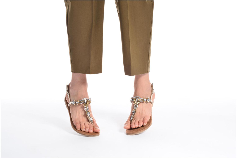 Sandales et nu-pieds Tamaris Gardénia Or et bronze vue bas / vue portée sac
