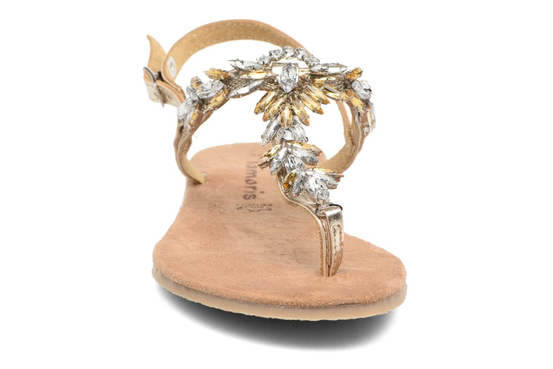 Sandales et nu-pieds Tamaris Gardénia Or et bronze vue portées chaussures