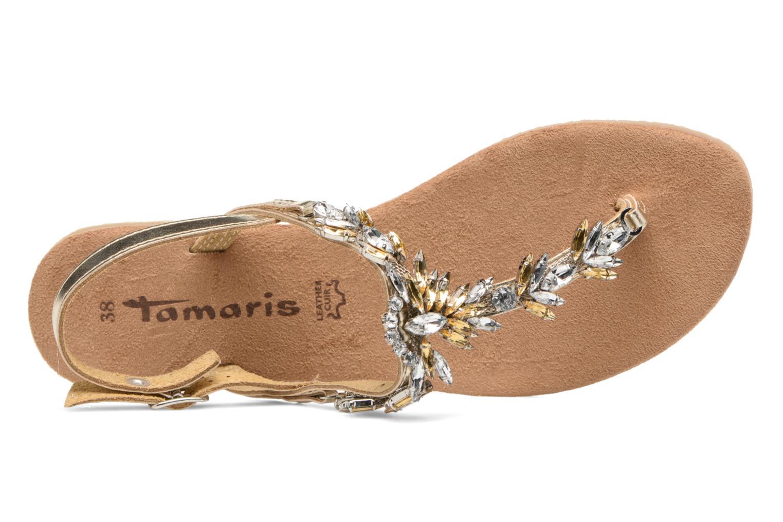 Sandales et nu-pieds Tamaris Gardénia Or et bronze vue gauche