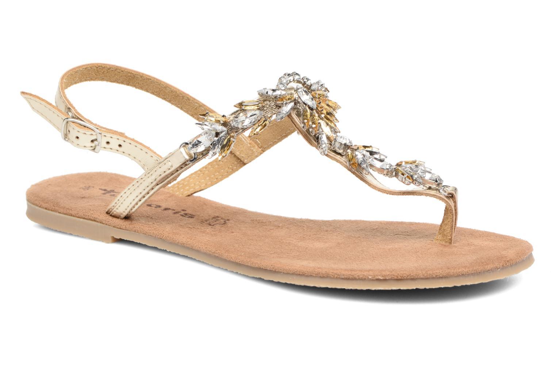 Sandales et nu-pieds Tamaris Gardénia Or et bronze vue détail/paire