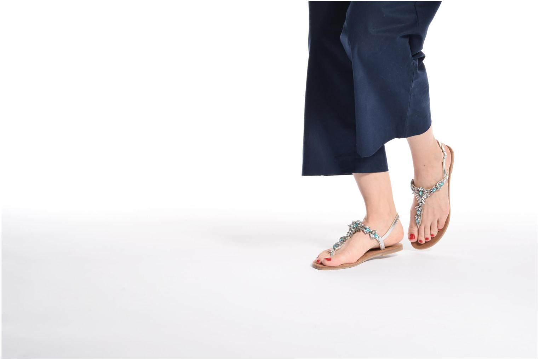 Sandales et nu-pieds Tamaris Garrya Argent vue bas / vue portée sac