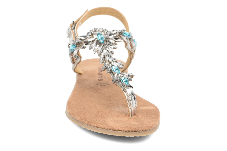 Sandales et nu-pieds Tamaris Garrya Argent vue portées chaussures