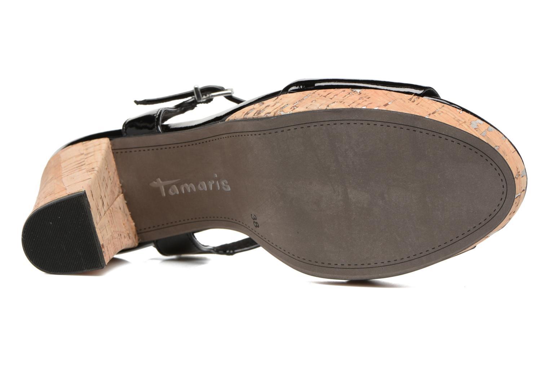 Sandales et nu-pieds Tamaris Espotoa Noir vue haut