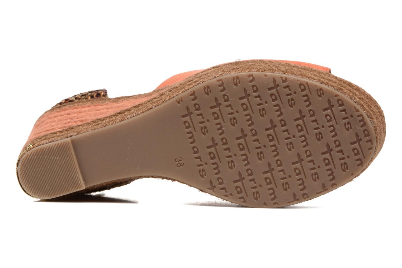 Sandales et nu-pieds Tamaris Xucca Orange vue haut