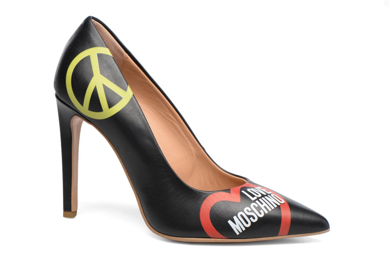 Escarpins Love Moschino Cut Out Logo Pump Noir vue détail/paire