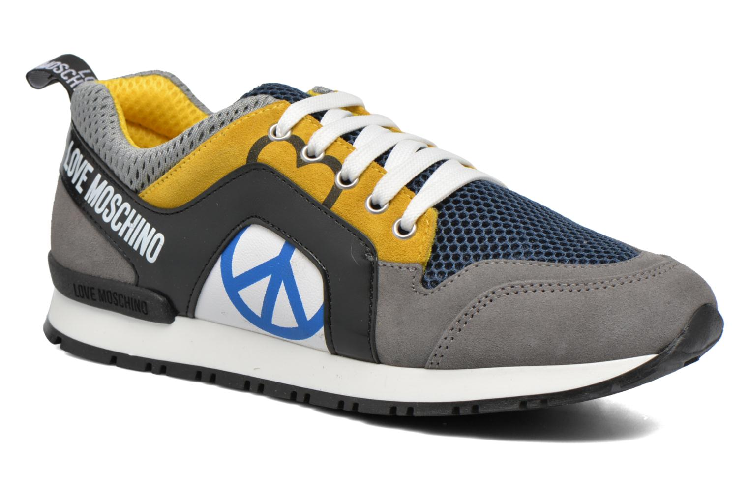 Baskets Love Moschino Cut Out Logo Running Multicolore vue détail/paire