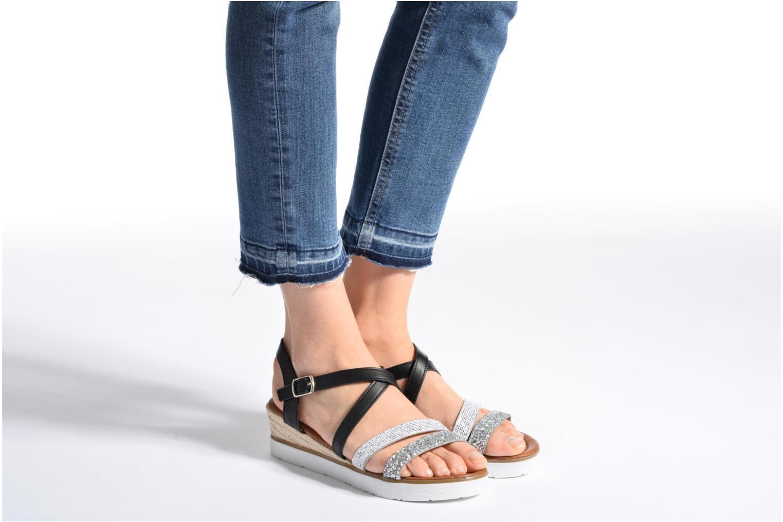 Sandales et nu-pieds Xti Japy 46651 Noir vue bas / vue portée sac