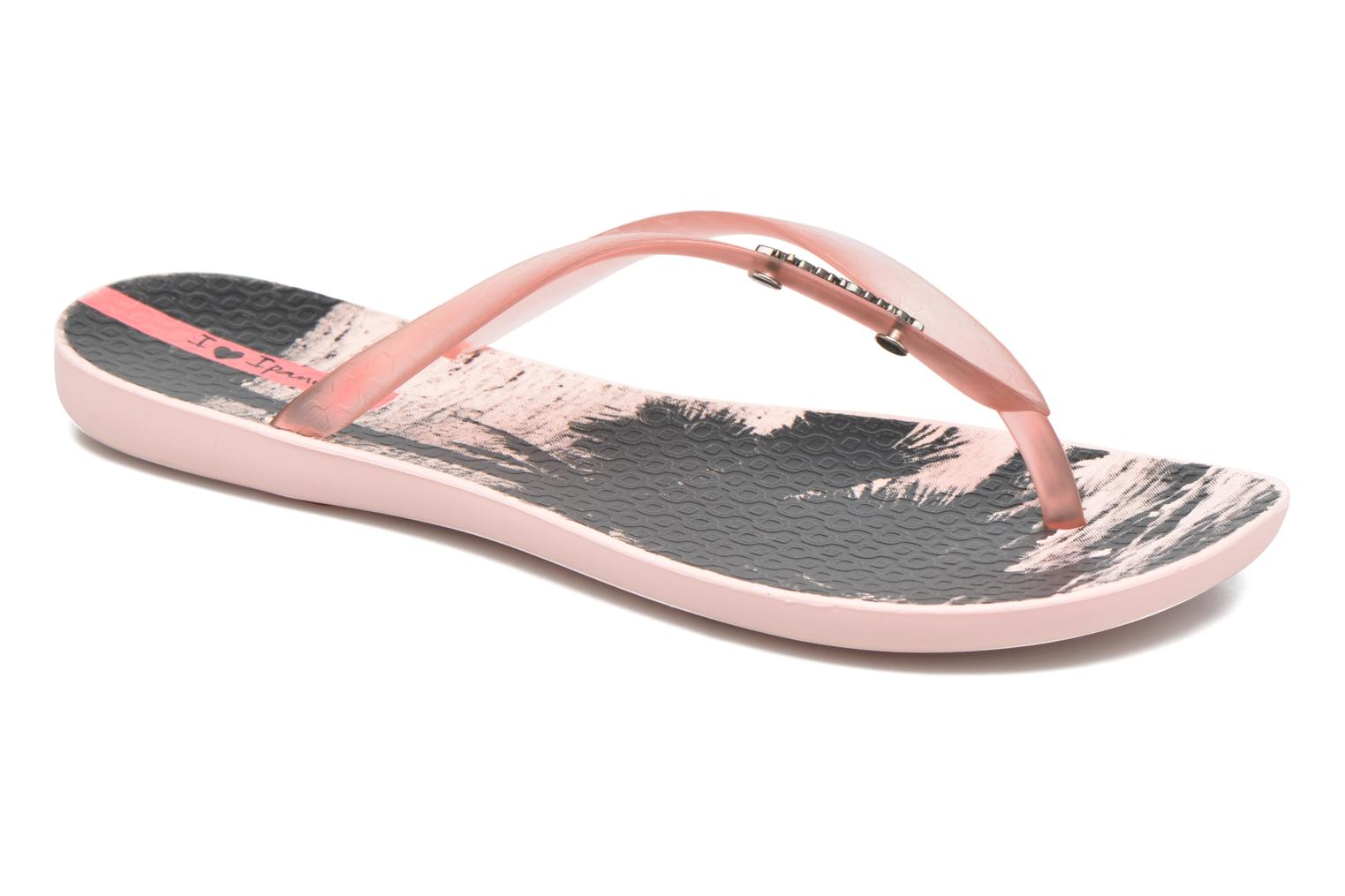 Flip flops Ipanema Wave Tropical Pink detailed view/ Pair view