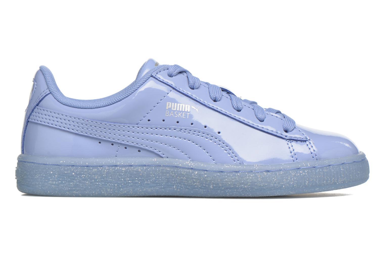 Baskets Puma Basket Patent Iced Glitter Jr Bleu vue derrière