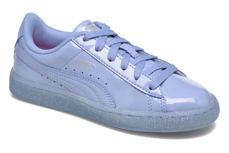 Baskets Puma Basket Patent Iced Glitter Jr Bleu vue détail/paire