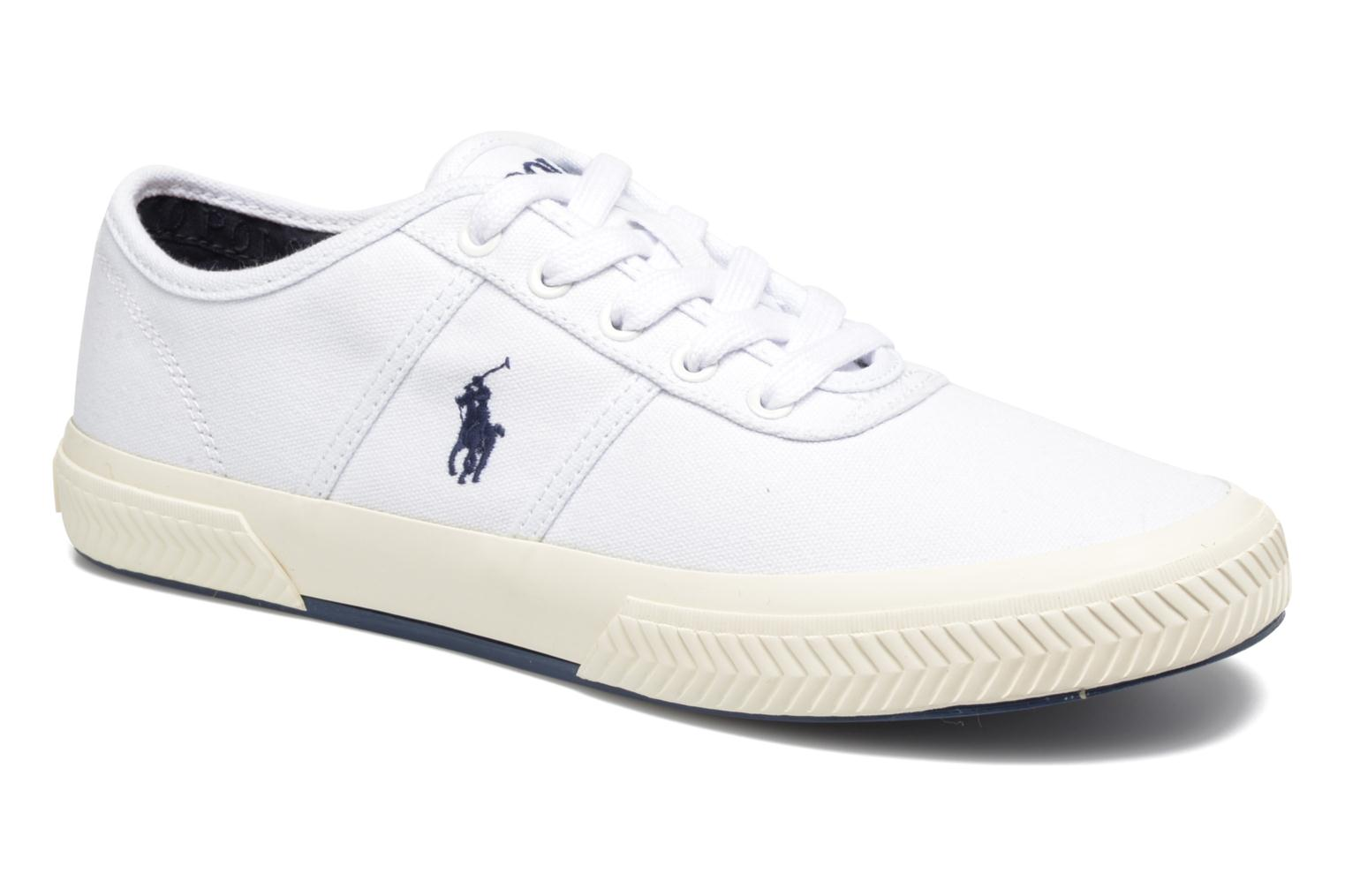Trainers Polo Ralph Lauren Tyrian-Ne-Sneakers-Vulc White detailed view/ Pair