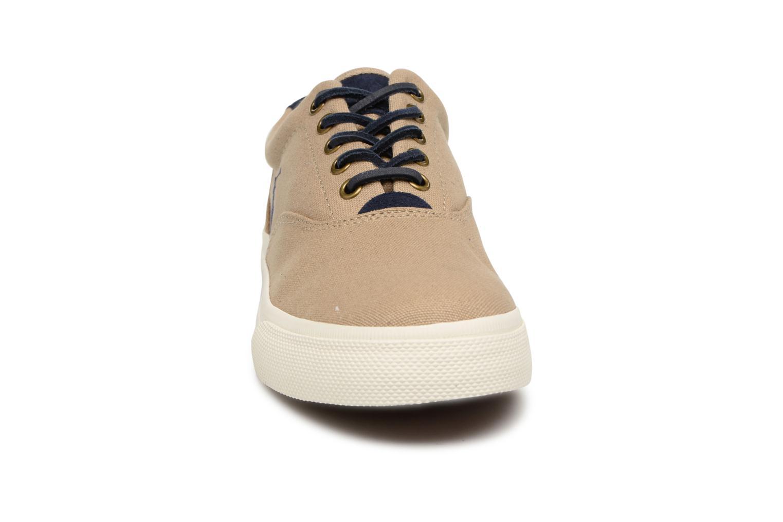Baskets Polo Ralph Lauren Vaughn-Ne-Sneakers-Vulc Beige vue portées chaussures