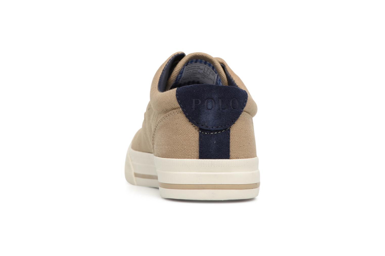 Baskets Polo Ralph Lauren Vaughn-Ne-Sneakers-Vulc Beige vue droite