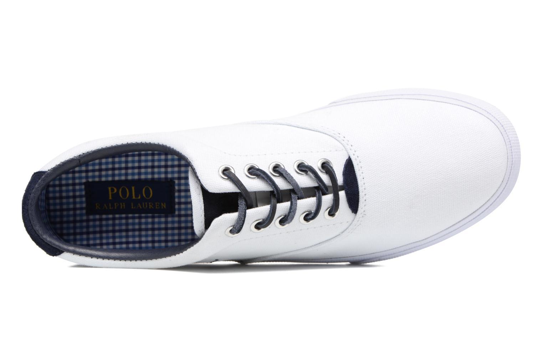 Baskets Polo Ralph Lauren Vaughn-Ne-Sneakers-Vulc Blanc vue gauche