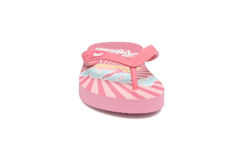 Tongs Kaporal Surfun Rose vue portées chaussures