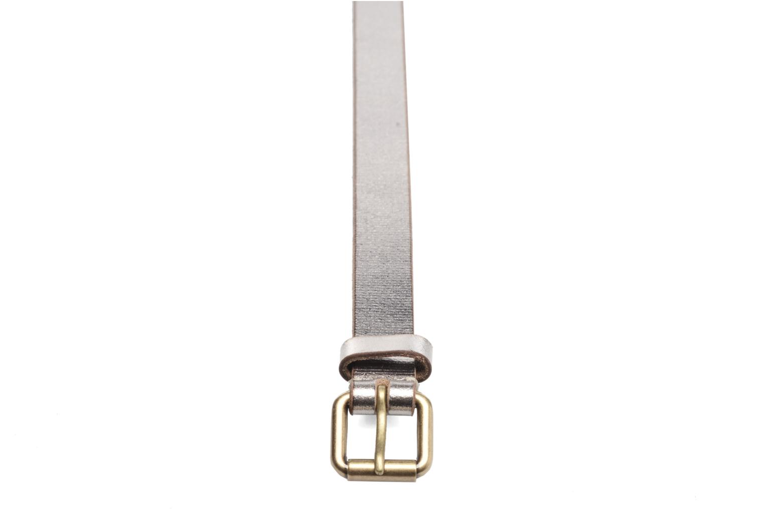Metal Leather Belt Taupe