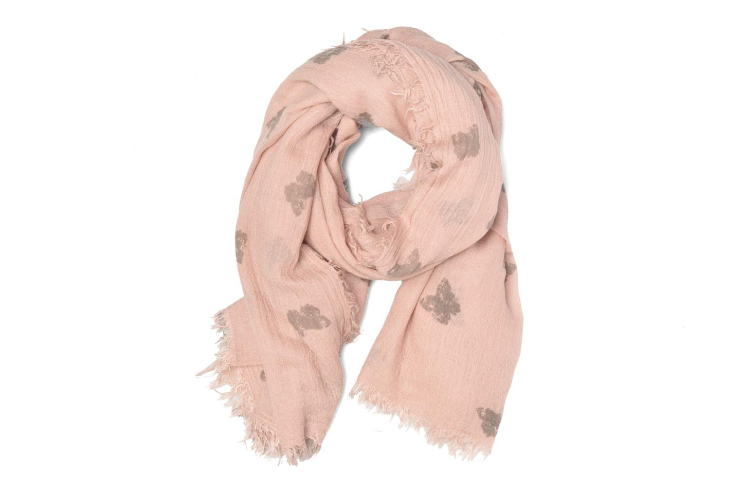 Butterfly Print Scarf Light Pink