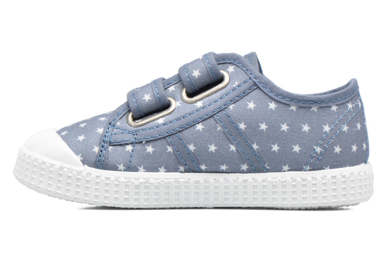 Baskets Victoria Basket Estrellas Velcros Bleu vue face