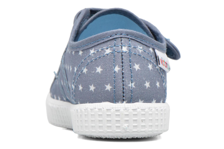 Baskets Victoria Basket Estrellas Velcros Bleu vue droite