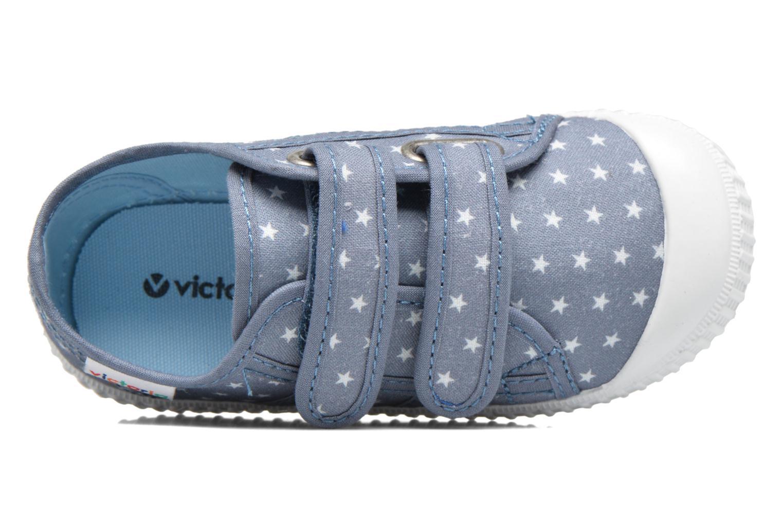 Baskets Victoria Basket Estrellas Velcros Bleu vue gauche