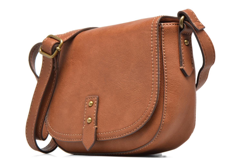 Sacs à main Esprit Pippa Saddle bag Marron vue portées chaussures
