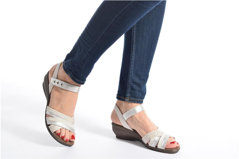 Sandales et nu-pieds Sweet Zalan Blanc vue bas / vue portée sac