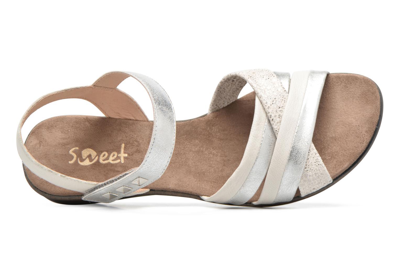 Sandales et nu-pieds Sweet Zalan Blanc vue gauche