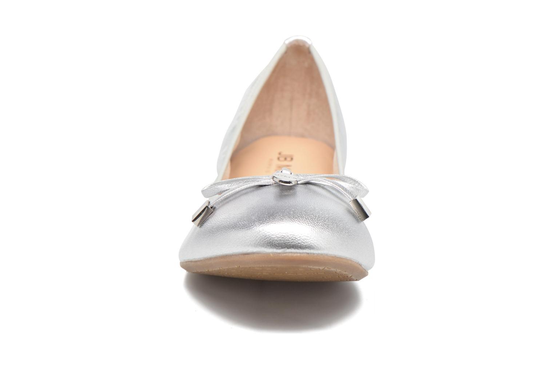 Ballerines JB MARTIN Oreane Argent vue portées chaussures