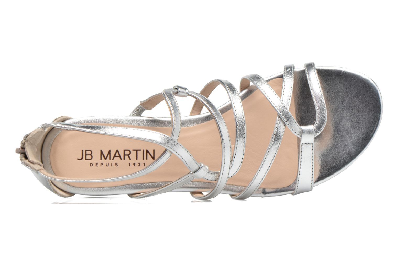 Sandales et nu-pieds JB MARTIN 1Anora Argent vue gauche