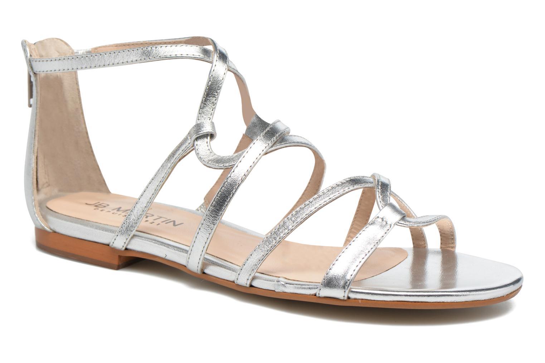 Sandales et nu-pieds JB MARTIN 1Anora Argent vue détail/paire