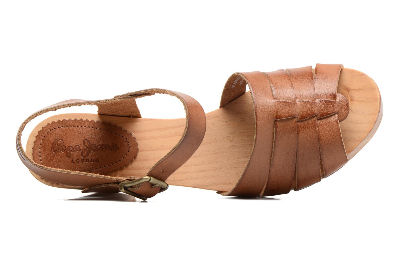 Sandales et nu-pieds Pepe jeans Oly Marron vue gauche