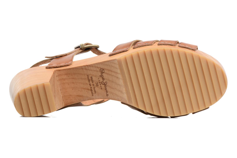 Sandales et nu-pieds Pepe jeans Oly Marron vue haut