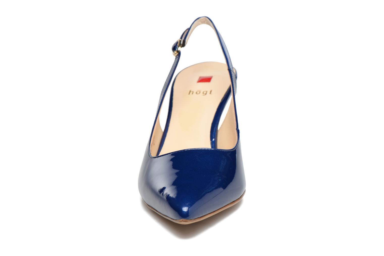Escarpins HÖGL Wita Bleu vue portées chaussures
