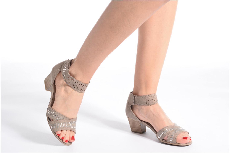 Sandales et nu-pieds Jana shoes Koni Noir vue bas / vue portée sac