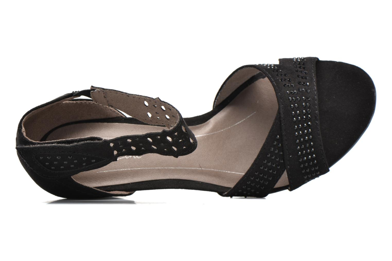 Sandales et nu-pieds Jana shoes Koni Noir vue gauche