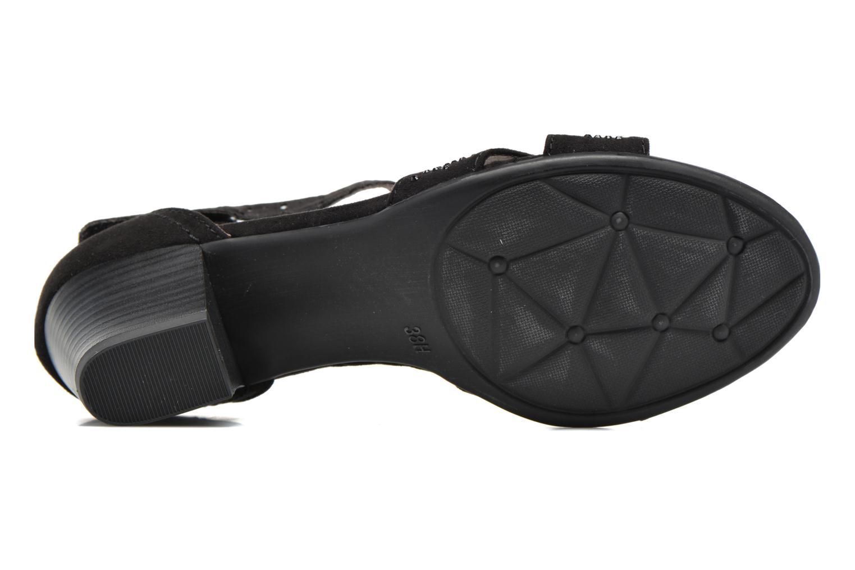 Sandales et nu-pieds Jana shoes Koni Noir vue haut