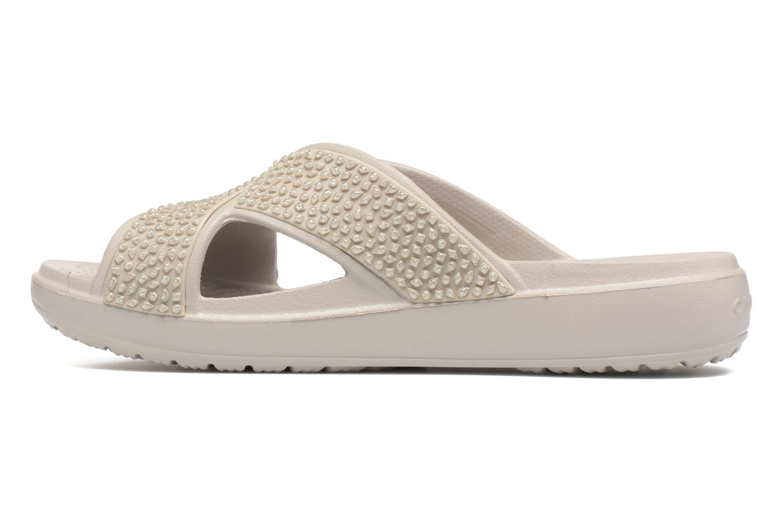 Mules & clogs Crocs CrocsSloane Embellished Xstrap Grey front view