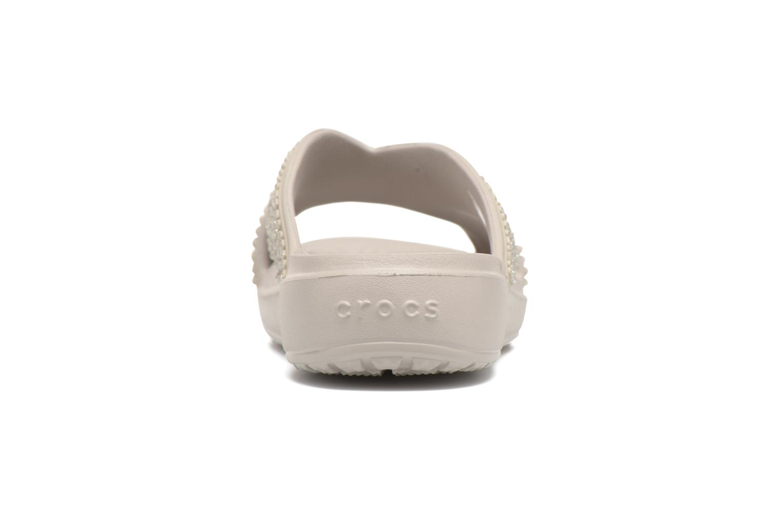 Mules & clogs Crocs CrocsSloane Embellished Xstrap Grey view from the right