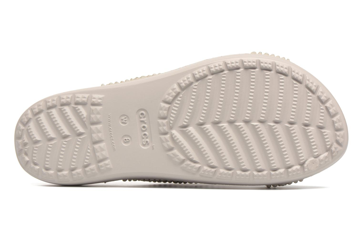 Mules & clogs Crocs CrocsSloane Embellished Xstrap Grey view from above