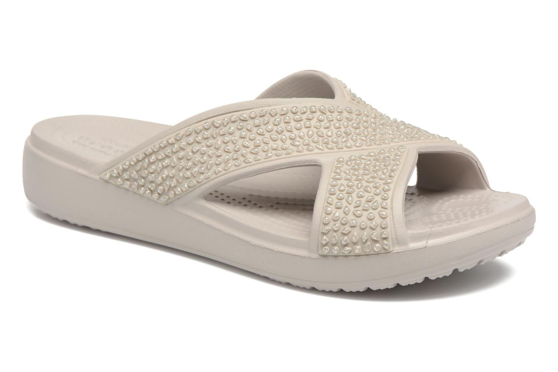 Mules & clogs Crocs CrocsSloane Embellished Xstrap Grey detailed view/ Pair view