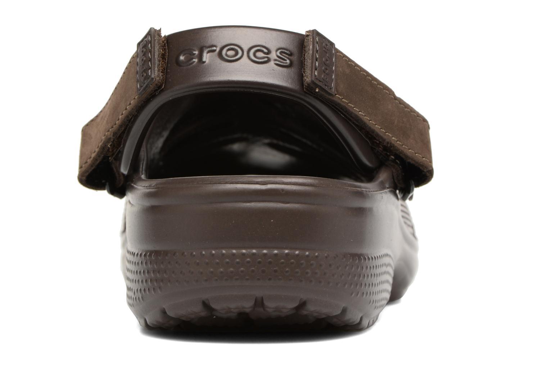 Sandales et nu-pieds Crocs Yukon Mesa Clog M Marron vue droite
