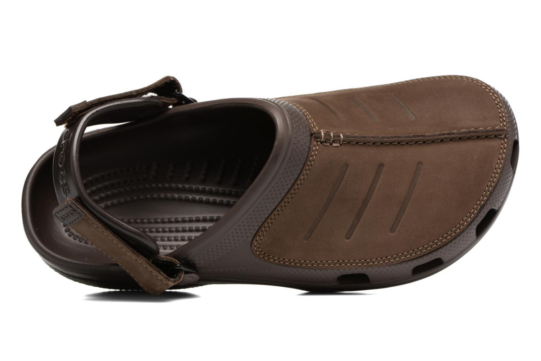 Sandales et nu-pieds Crocs Yukon Mesa Clog M Marron vue gauche