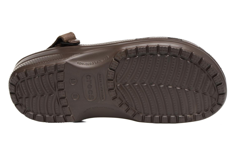 Sandales et nu-pieds Crocs Yukon Mesa Clog M Marron vue haut