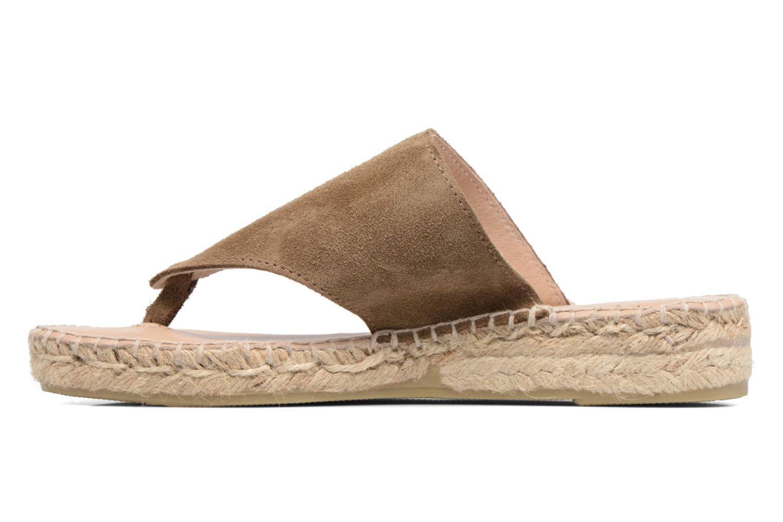 Sandales et nu-pieds La maison de l'espadrille Tong 701 Beige vue face