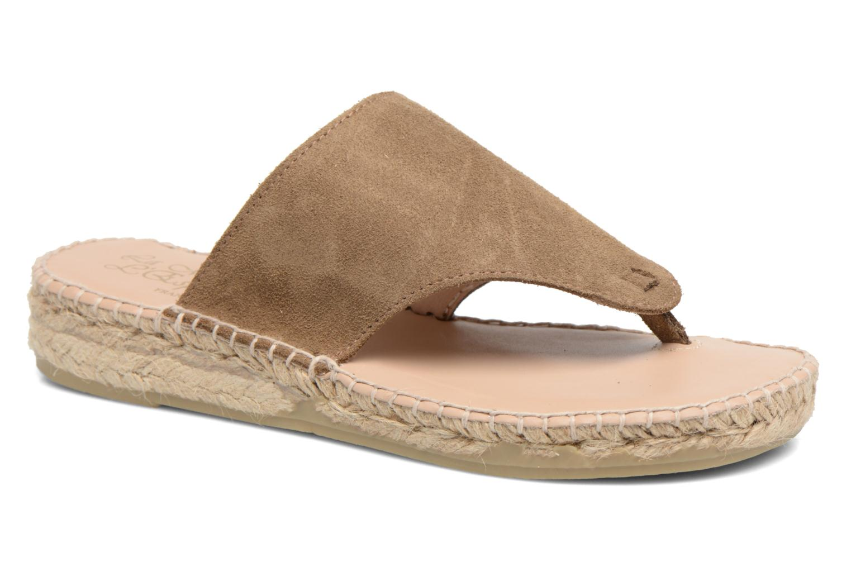 Sandales et nu-pieds La maison de l'espadrille Tong 701 Beige vue détail/paire