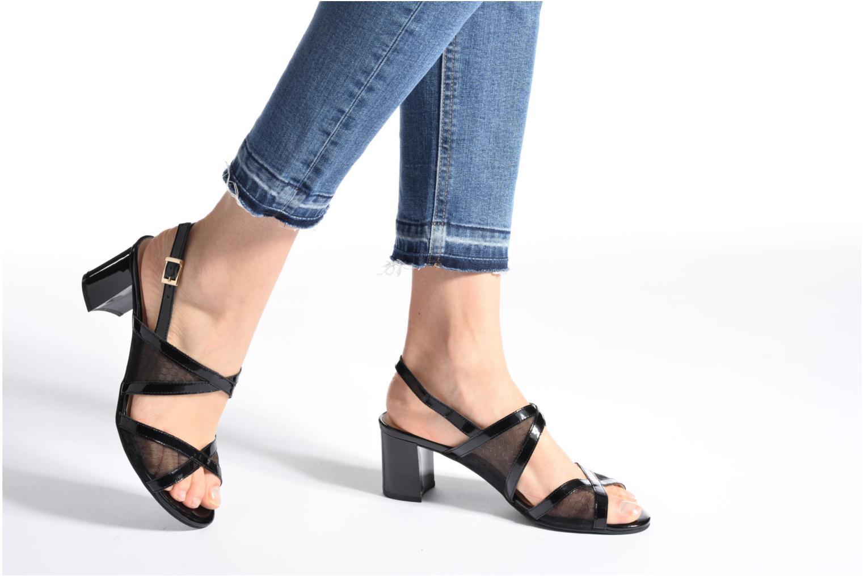 Sandales et nu-pieds Caprice Blanka Noir vue bas / vue portée sac
