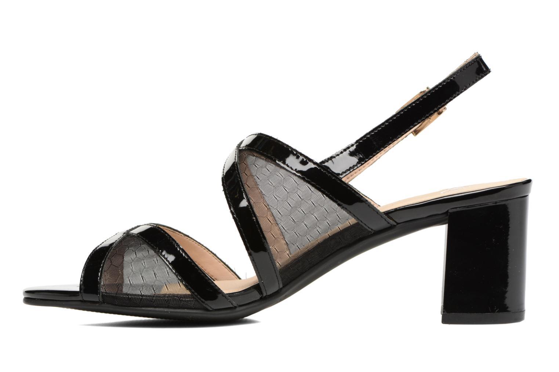 Sandales et nu-pieds Caprice Blanka Noir vue face