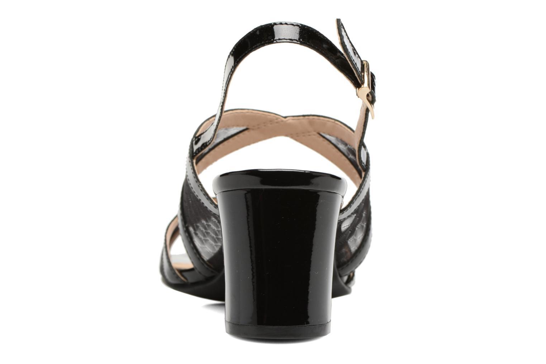 Sandales et nu-pieds Caprice Blanka Noir vue droite