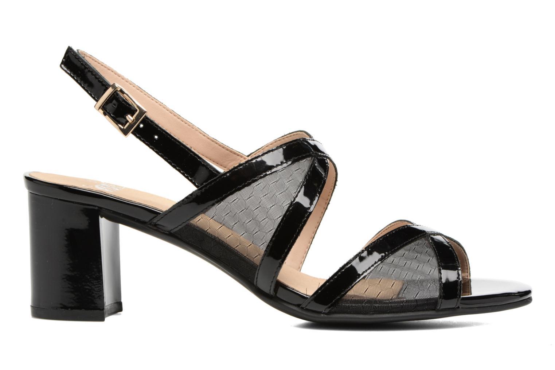 Sandales et nu-pieds Caprice Blanka Noir vue derrière