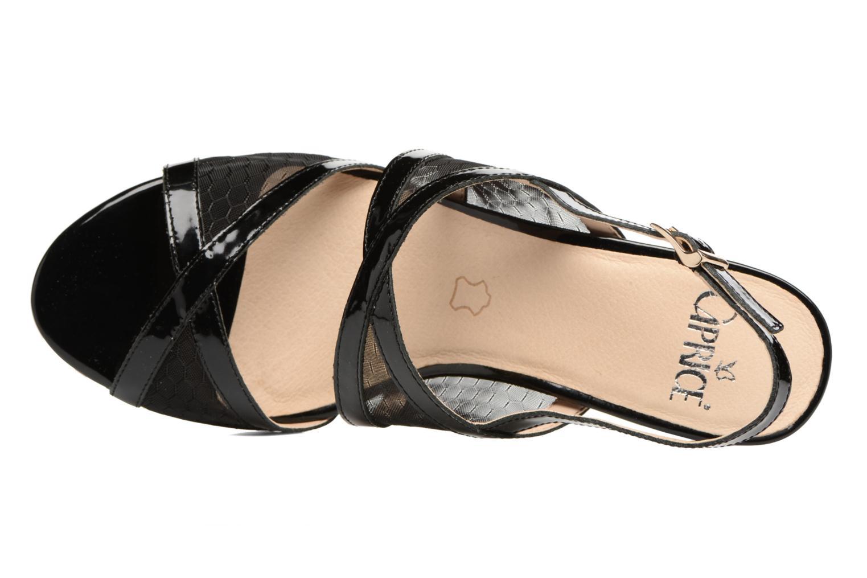 Sandales et nu-pieds Caprice Blanka Noir vue gauche